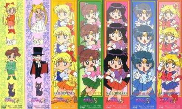 Sailor Moon S Pull Pack Bookmark Seal Part 5 Regulars