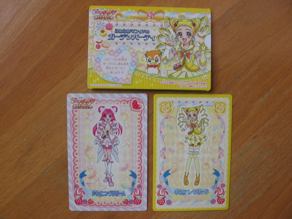 Pretty Cure Max Heart Pop-up House & Doll Cards Lot #5