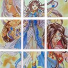 Ah My Goddess Screenplay Version Chromium Goddess Complete Puzzle Cards