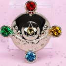 Sailor Moon Miniaturely Tablet 4 Compact Key Chain - Transformation Brooch