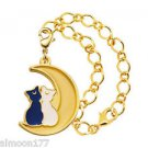 Sailor Moon Stained Charm Gashapon Keychain - Luna & Artemis Bracelet