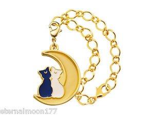 Sailor Moon Stained Charm Gashapon Keychain - Luna & Artemis Bracelet