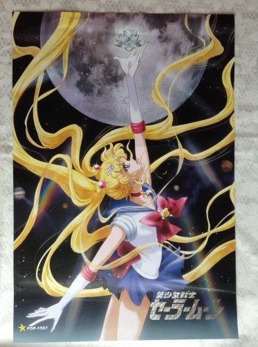 Sailor Moon Crystal Flower Silver Crystal Poster
