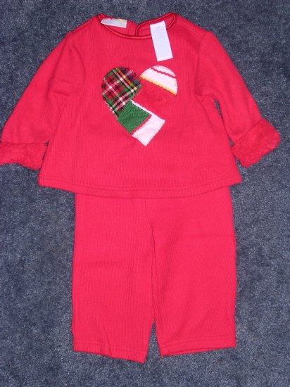 Patchwork heart outfit - like new 12 months