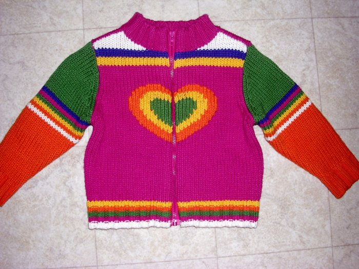 Children's place heart sweater cardigan NWOT 12 months