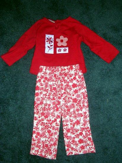 Miniwear red pants set NWOT 18 months