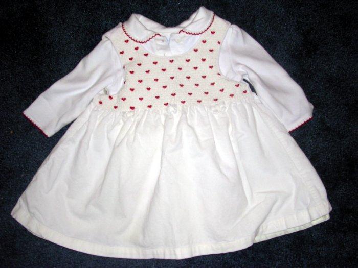 miniwear heart corduroy dress like new 12 months