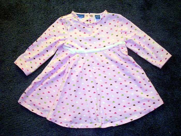 Greendog pink heart dress - like new 12 months
