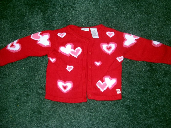 Heart cardigan sweater NWOT 12 months