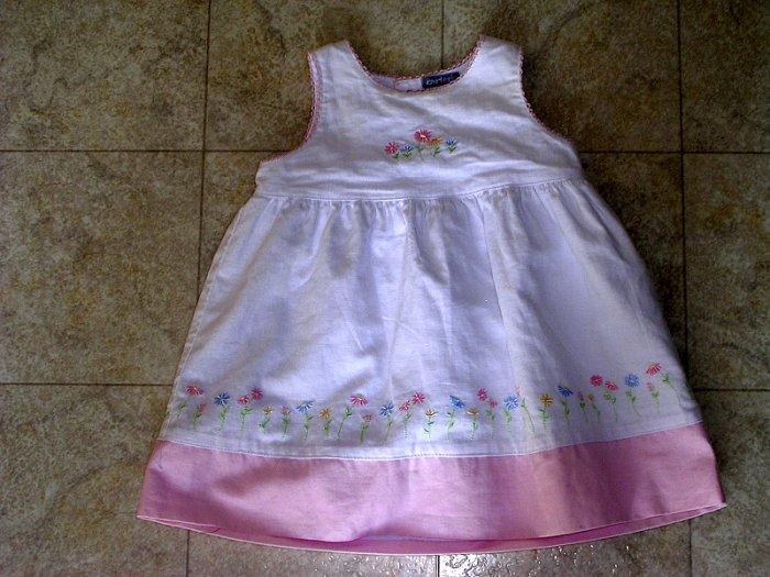 Carter's pink flower dress 12 months