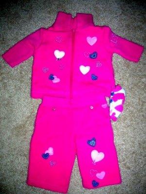 Heart pants set 0-3
