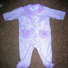 Carter's purple flower sleeper 3 months