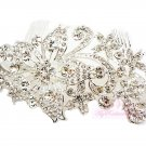 Diamante Rhinestone Flower Hair Comb HC0002