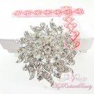 3'' Rhinestone silver brooches, Bridal Brooch, Wedding brooch BR0034