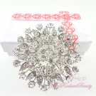 Circular Floral Bridal Rhinestone Brooch, Wedding Brooch, Bridal brooch BR0021