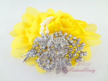 Bridal Floral Banquet Rhinestone Brooch, Wedding Brooch Jewelry, Bridal brooch BR0025