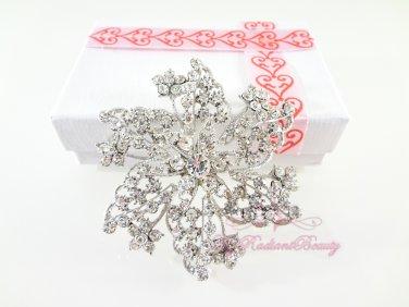 Floral Star Shape Bridal Rhinestone Brooch, Wedding Brooch Jewelry, Bridal brooch BR0023