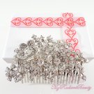 Stunning Bridal Dual Flower Floral Hair Rhinestone Comb, Wedding Comb Jewelry, Bridal Comb HC0025