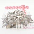 Floral Leaf Hair Comb, Wedding Comb Jewelry, Wedding Comb, Bridal Comb MyRadiantBeauty HC0024
