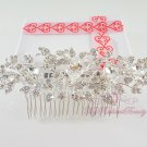 Luxury Crystal Flower Handmade Rhinestone Hair Comb, Bridesmaid Haircomb, Fashion Bridal Comb HC0019