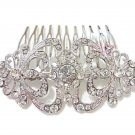 Bridal Flower Hair Comb, Rhinestone Comb, Bridesmaid Comb, Bridal Hair Comb HC0010