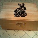 "rare hand made collectible "" bunny "" trinket box, pet, pelt"