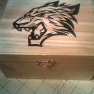 "rare new collectible "" tiger trinket box "" animal, lot, wood, hinged, gift, present"