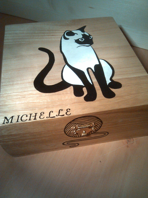 "rare collectible "" siamese cat 2 "" trinket box, womens jewelry box, present, gift, stash box"