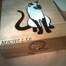 "rare collectible "" siamese cat 2 "" trinket box, womens jewelry box, present, gift, stash box"