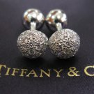 TIFFANY AND CO. CUFF LINKS ~ PLATINUM  AND DIAMONDS ~ 2.00CT ~ AVANTE GUARD ~ NEW IN THE BOX !!