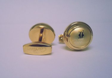 FASHION CUFF LINKS ~ 18 K GOLD ~ DESIGNER STYLE ~ NIB !!!