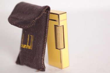 DUNHILL LIGHTER ~ 18 K GOLD ~ BEAUTIFUL YELLOW CHINESE LACQUER ~ ULTRA RARE ~ EXCELLENT !!!