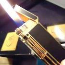 CARAN d ACHE LIGHTER ~ CHINA  LACQUER BLACK ~  18 K GOLD LIGHTER ~ STUNNING !
