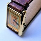 CARTIER must de WATCH ~ DESIGNER TANK ~ TRINITY ~ 18 K GOLD ~ BEAUTIFUL !!!