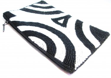 iPurse -Abstract Swirl White-Pouch/Wallet/ Phone case/evening purse