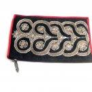 iPurse® Phone Case-Purse- Baroque Black silver-Wallet/Pouch / Phone case/Wallet/Evening purse/Pouch
