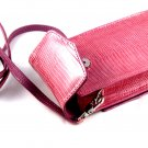 iPurse® Genuine Pink Lizard Leather Phone case/Wallet/Evening purse