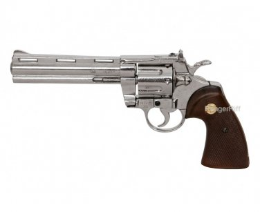 357 Magnum Nickel Colt Python Replica Pistol Walking Dead Zombie Killer Rick Grimes ACCURATE Prop