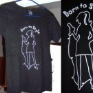NEW Born to Style Black Fitted T-shirt  Size Large