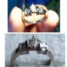 Women's Platinum and Diamond Engagement Ring Size 6