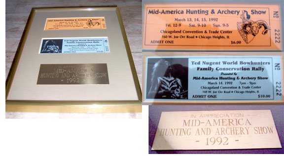 1992 Mid American Hunting & Archery  Framed Collectible