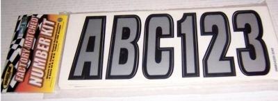 Black/Silver Boat Lettering Kit by Hardline NEW in pkg