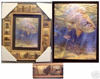 """12' X 15' Framed Painted Tile--""""""""Lit Fuse - Tarpon"""""""""""