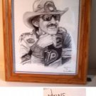 Richard Petty Lithograph (Framed) by Dale Adkins