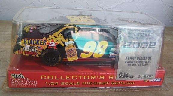 2002 Racing Champ. NASCAR Kenny Wallace #98 Stacker