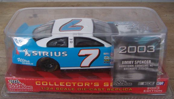 2003 Racing Champ. NASCAR Jimmy Spencer #7 Sirius