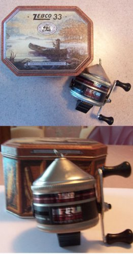 NEW 1998 Zebco 33 Spin-cast Reel in a Collector'sTin