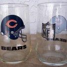 2 - Vintage 1980 Chicago Bears 16oz Glasses