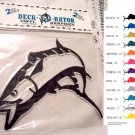 Jumping Kingfish Vinyl Decal 2 pack Silver