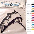 Jumping Kingfish Vinyl Decal 2 pack Teal